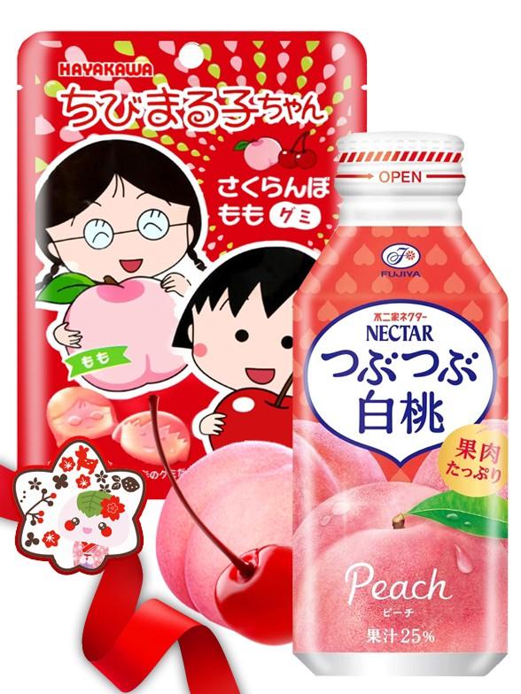 DUO PERFECTO Gominolas Maruko Chan & Momo Drink PekoChan   Gift