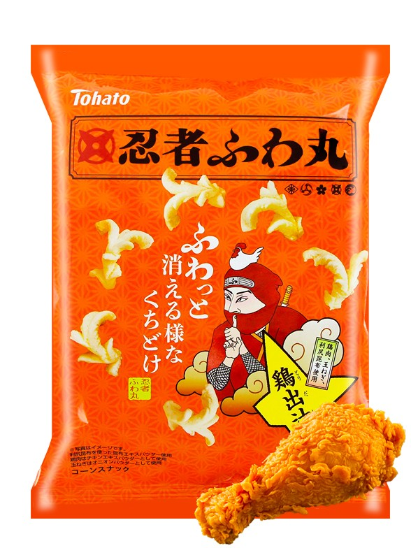 Snack de Palomitas Ninja Sabor Pollo Dashi 60 grs