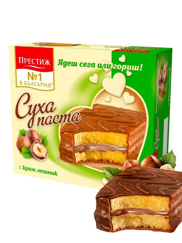 Bizcochos rellenos de Crema de Avellana y recubiertos de Chocolate 300 grs.