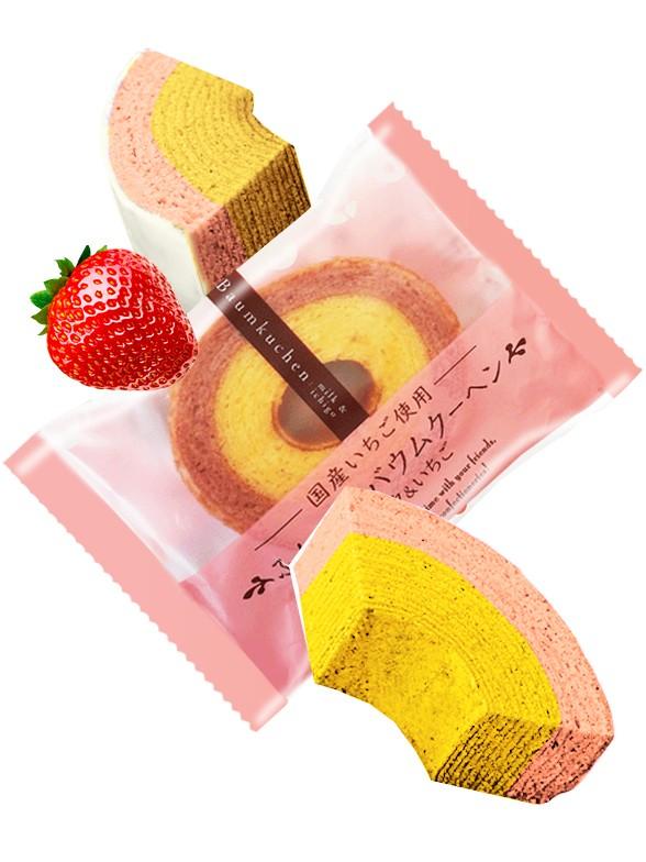 Cake Roll Mil Capas de Ichigo 65 grs.