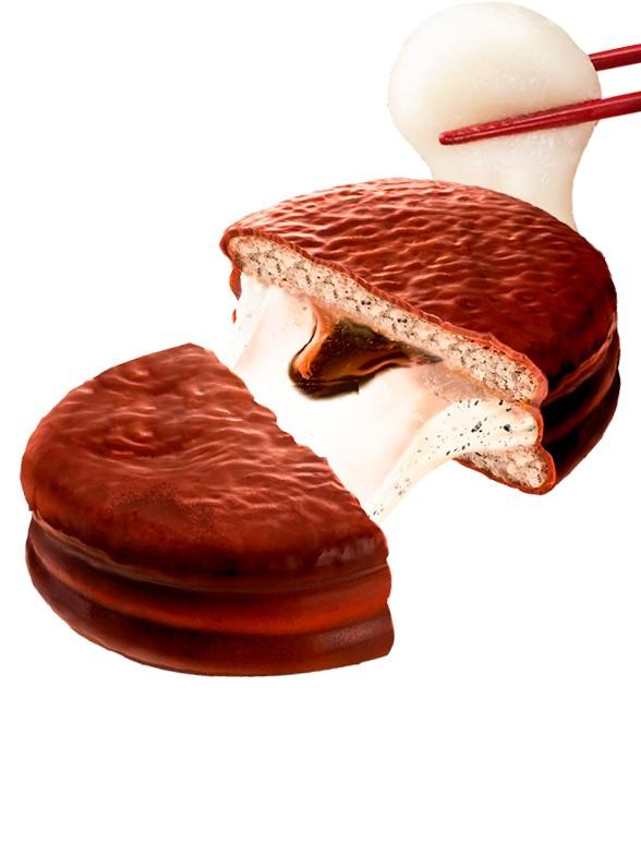 Choco Pie relleno de Crema de Mochi y Sésamo Negro | Unidad 28 grs.