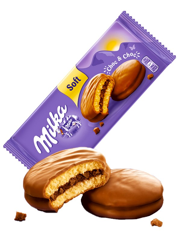 Galletas estilo Chocopie de Doble Chocolate Milka 150 grs