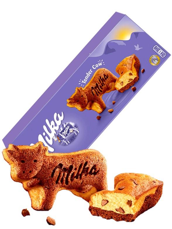 Vaquitas Bizcocho con Pepitas de Chocolate Milka 140 grs.