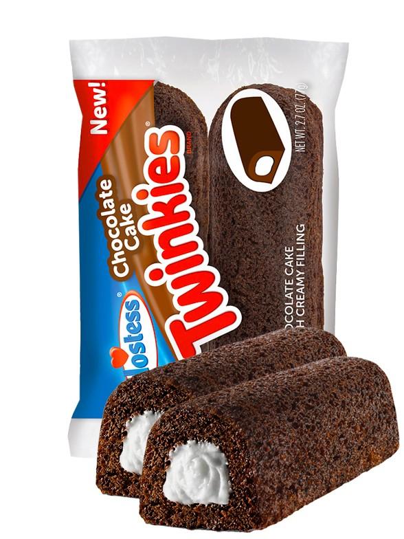 Pasteles Twinkies de Chocolate con relleno de Crema de Vainilla | 2 Unds.