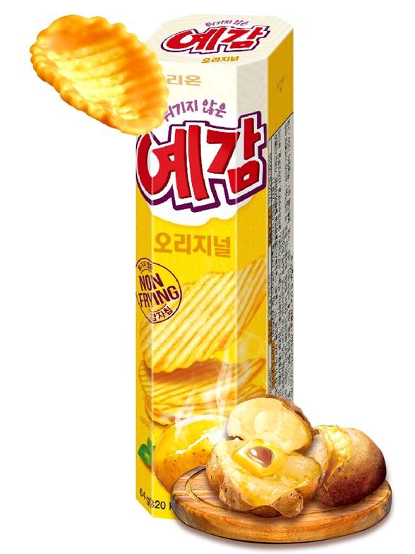 Chips Onduladas Asadas al Horno | Orion Corea 64 grs.