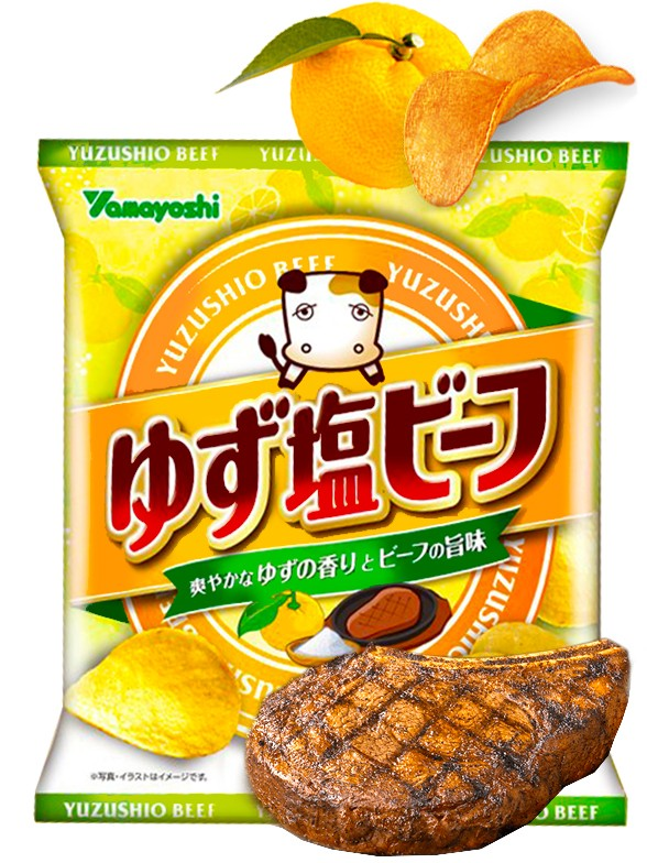 Patatas Chips Sabor Carne con Sal y Yuzu 48 grs.