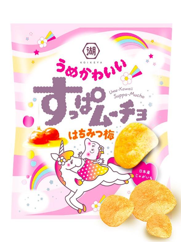 Patatas Chips sabor Miel y Ciruela Ume   Kawaii Suppa 53 grs.   Pedido GRATIS!