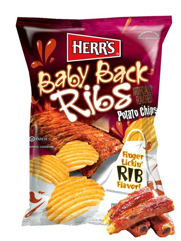 Patatas Onduladas sabor Costillas Baby Back 184 grs