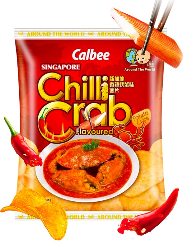 Patatas Calbee Cangrejo Picante | Receta de Singapur 55 grs