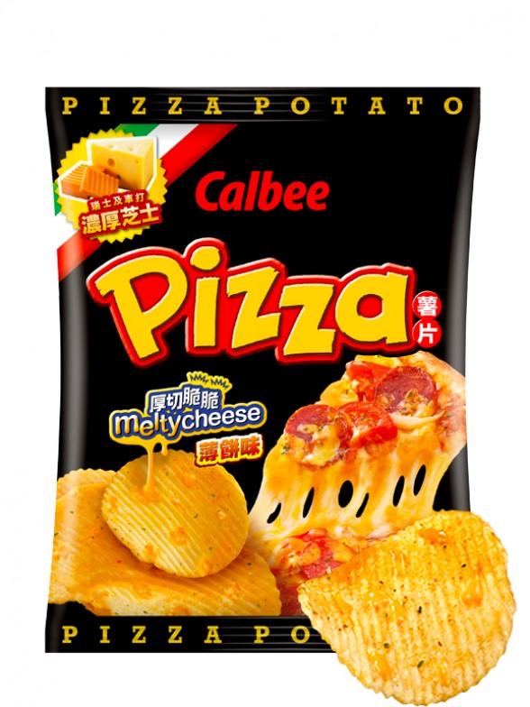 Patatas Chips Calbee Pizza con Queso Fundido 55grs