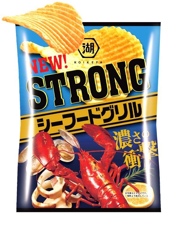 Patatas Fritas Koikeya Strong Seafood Grill 56 grs
