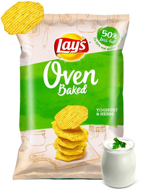 Patatas Lays al Horno de Yogur y Hierbas Aromáticas 125 grs. | OFERTA!!