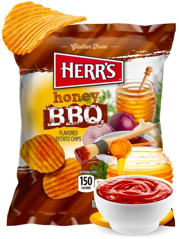 Patatas Onduladas sabor BBQ y Miel 99,2 grs.