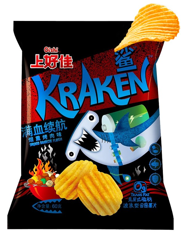 Patatas Fritas sabor Barbacoa 60 grs | Kraken | Pedido GRATIS!