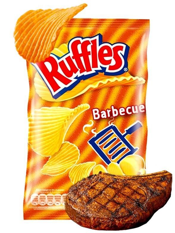 Patatas Fritas Ruffles sabor Barbacoa 23 grs.   OFERTA!!