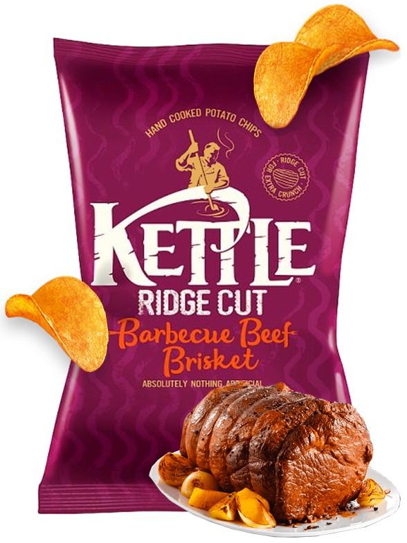 Patatas Kettle de Brisket de Ternera BBQ | 135 grs. | Pedido GRATIS!