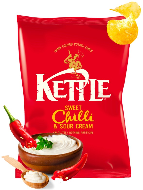 Patatas Kettle Sweet Chilli y Crema Agria 150 grs.