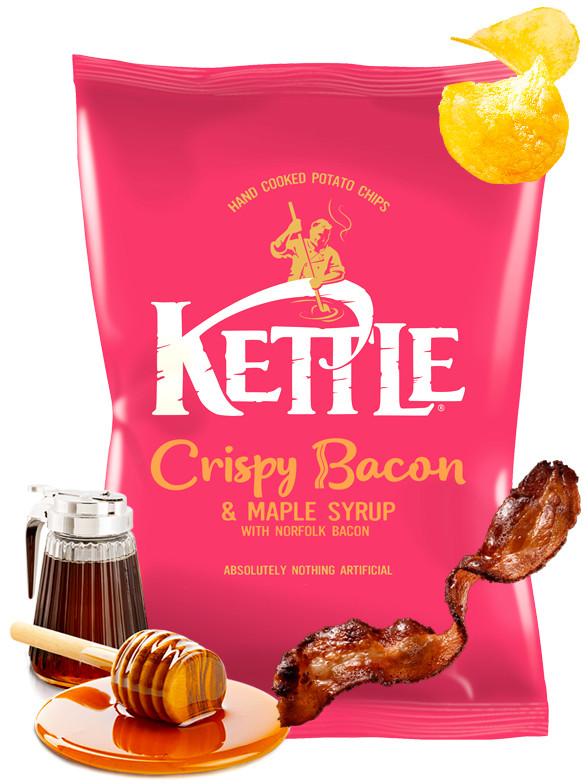 Patatas Kettle Sabor Bacon de Norfolk y Sirope de Arce 150 grs