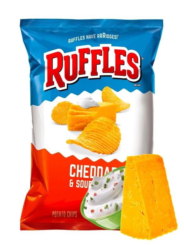 Patatas Ruffles Sabor Cheddar con Salsa Agria 184 grs