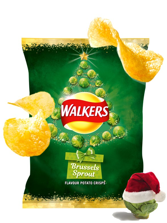 Patatas Fritas Walkers Lays Sabor Coles de Bruselas | Edición Navideña 25 grs | Pedido GRATIS!