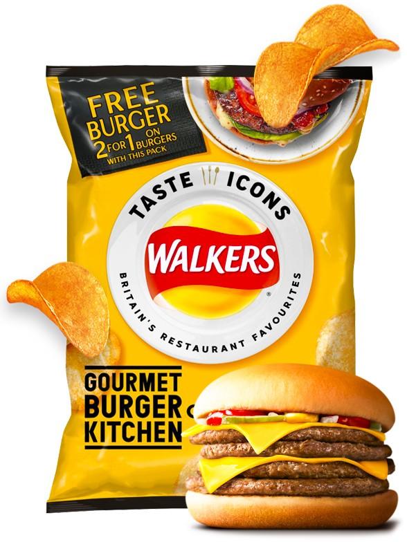 Patatas Fritas Walkers Lays Sabor Classic Cheeseburger | Snack Bag 25 grs. | Pedido GRATIS!