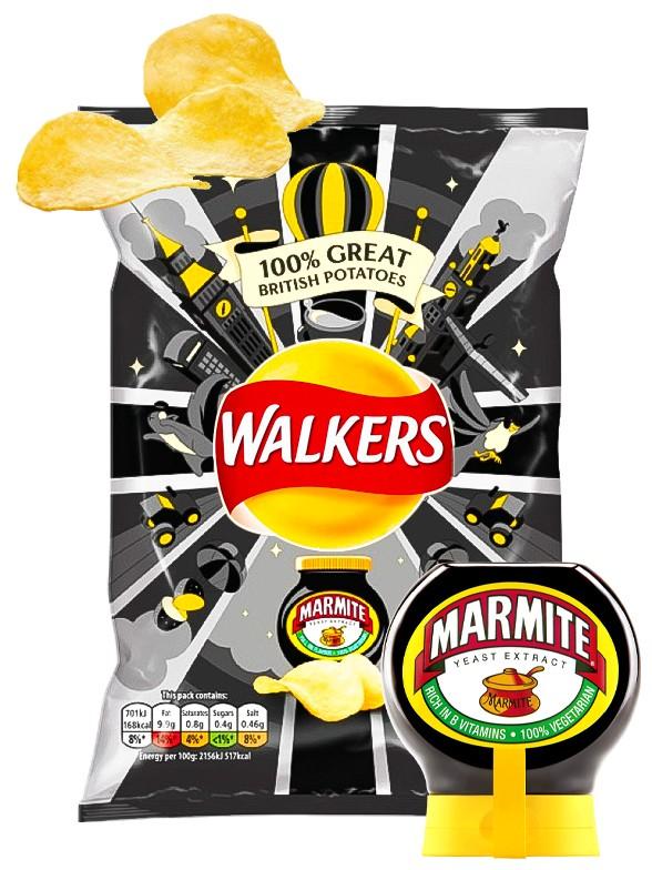 Patatas Fritas Walkers Lays Sabor Salsa Marmite 32,5 grs. | Pedido GRATIS!