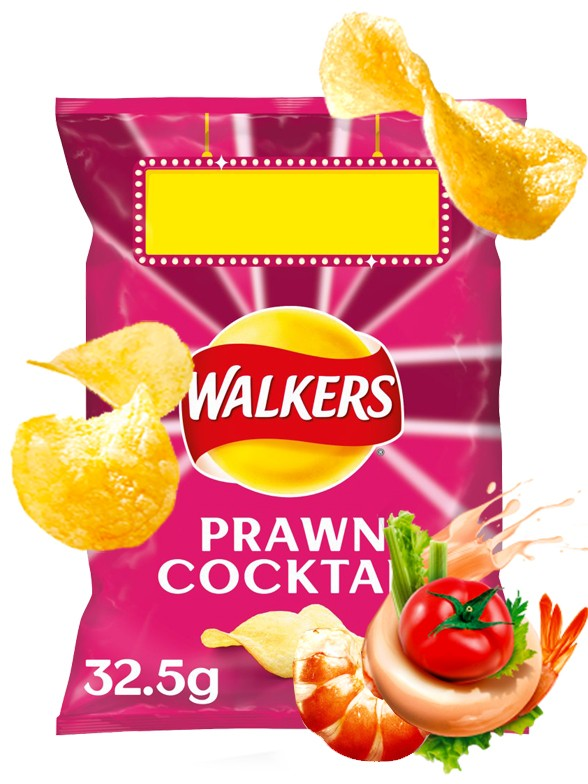 Patatas Fritas Walkers Lays Sabor Cocktail de Gambas 32 grs.