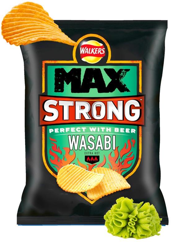 Patatas Fritas Onduladas Walkers Lays Wasabi Picante | Big Bag 150 grs