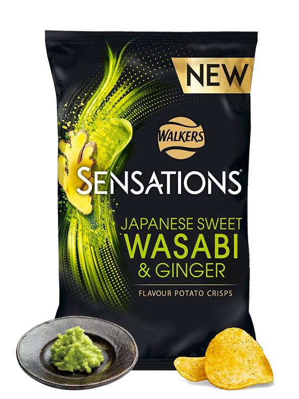 Patatas Fritas Walkers Lays Sensations Sweet Wasabi Ginger 150 grs | Pedido GRATIS!