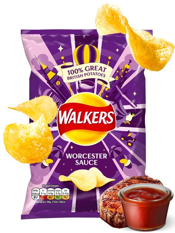 Patatas Fritas Walkers Lays Sabor Salsa Worcester | Nueva Receta 32 grs
