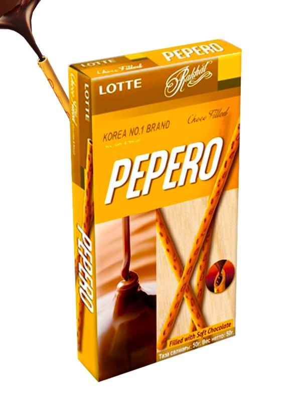 Pepero Relleno de Chocolate 50 grs