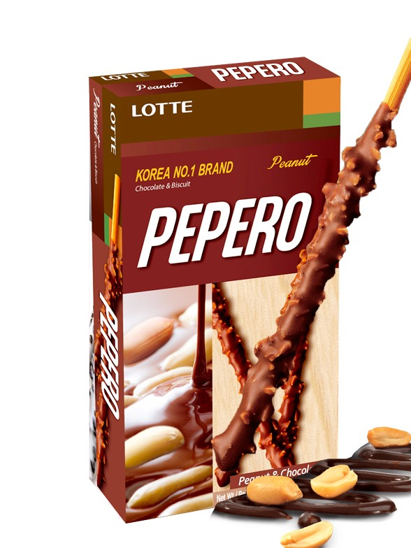 Pepero Lotte Chocolate y Cacahuetes 36 grs