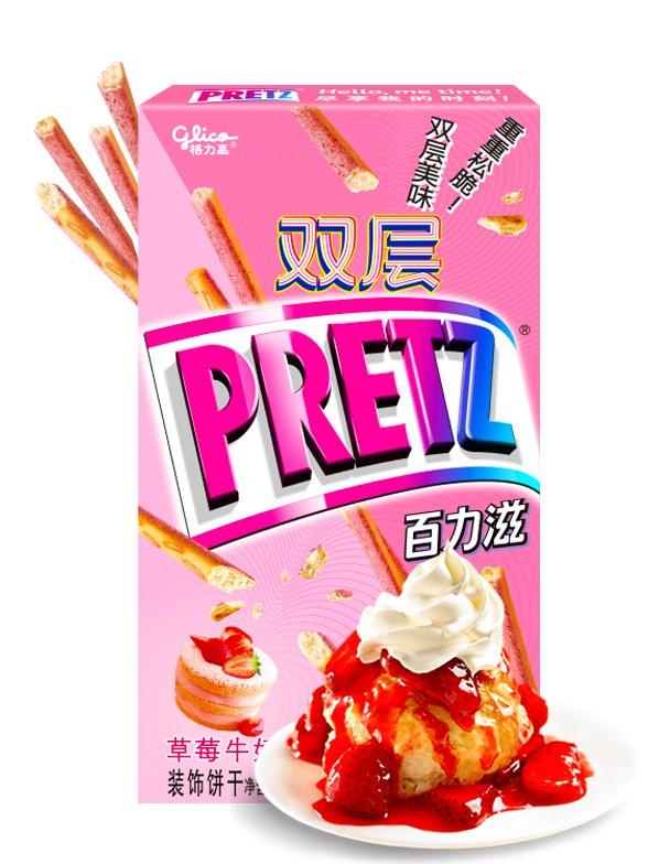 Sticks Pretz Double de Tarta de Fresas con Nata | Shortcake