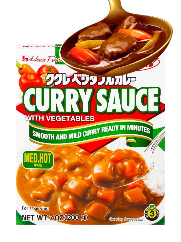 Salsa Fresca de Curry con Verduras | Medio Picante | 200 grs.