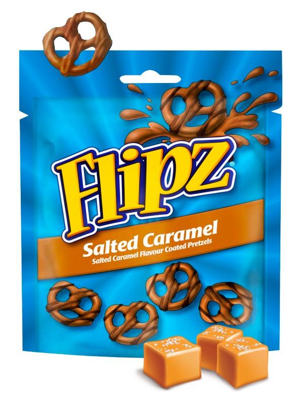 Pretzels con Cobertura de Salted Caramel   Flipz 90 grs