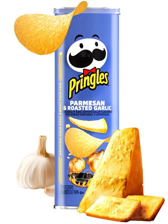 Pringles Genuine Sabor a Parmesano con Ajo Tostado 158 grs