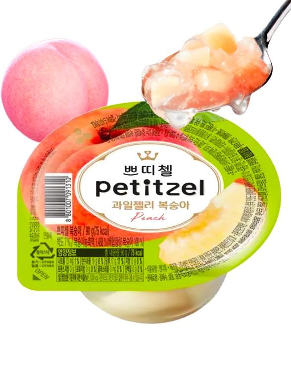 Gelatina Coreana con Melocotón Rosado Momo | Petitzel 90 grs. | Pedido GRATIS!