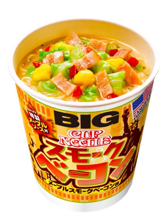 Nissin Cup Noodles Bacon y Sirope de Arce | Big Cup