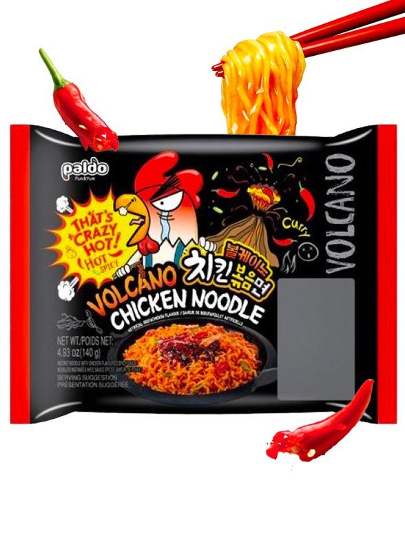 Ramen Coreano ULTRA HOT VOLCANO Chicken Curry | Bag 140 grs