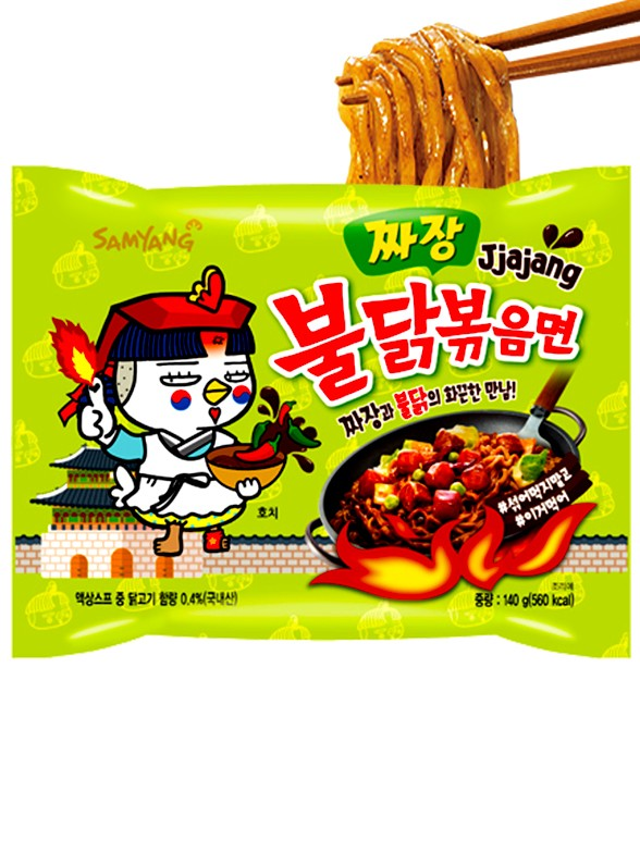 Ramen Coreano Salteado Wok Chajang ULTRA HOT Chicken | Bag