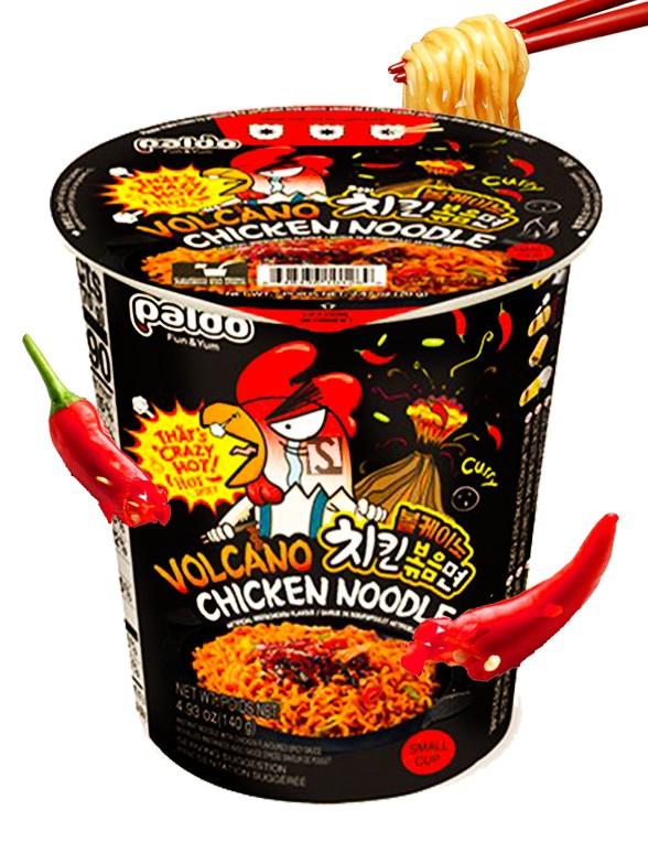 Ramen Coreano ULTRA HOT VOLCANO Chicken Curry | Cup 70 grs.