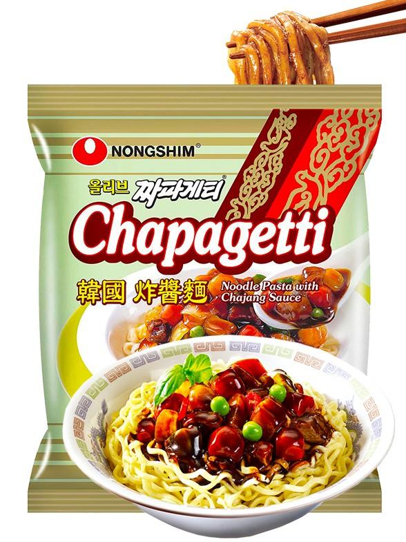 Fideos Ramen Coreanos Salteados Chapagetti con Salsa Chajang