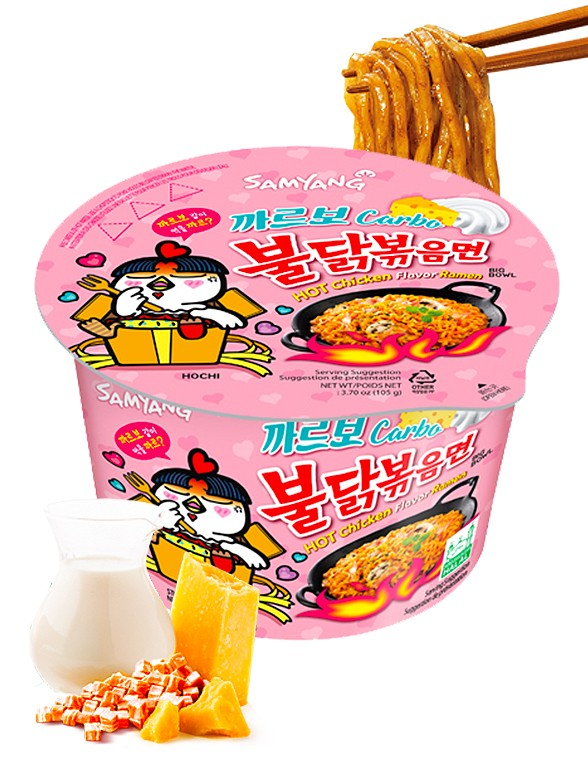 Ramen Coreano Salteado Wok Carbonara ULTRA HOT Chicken | Bowl