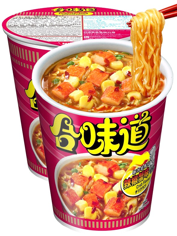 Fideos Ramen Nissin Colors Cup Super Toppings | Pink Surimi