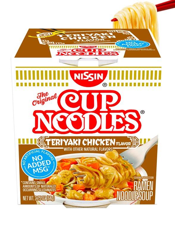 Nissin Cup Noodles Pollo Teriyaki | Receta USA 64 grs.