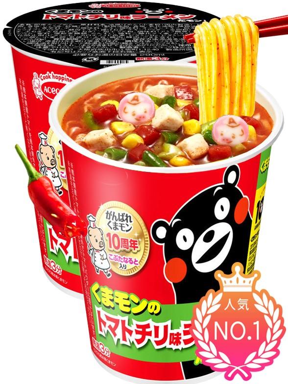 Fideos Ramen de Tomate, Chili y Naruto | Receta de Oso Kumamon 58 grs. | Pedido GRATIS!