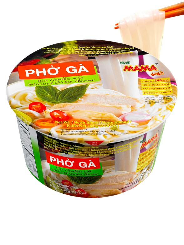 Tallarines de Arroz Phở Gà con Pollo | Receta Vietnamita