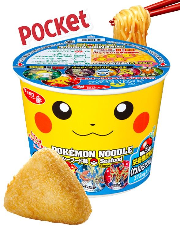 Fideos Ramen Pikachu Seafood  | Super Pocket Bowl 37 grs.