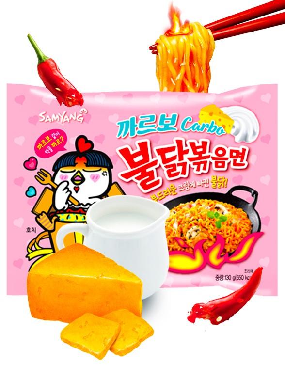 Fideos Ramen Coreano Salteado Wok Carbonara ULTRA HOT Chicken | Bag