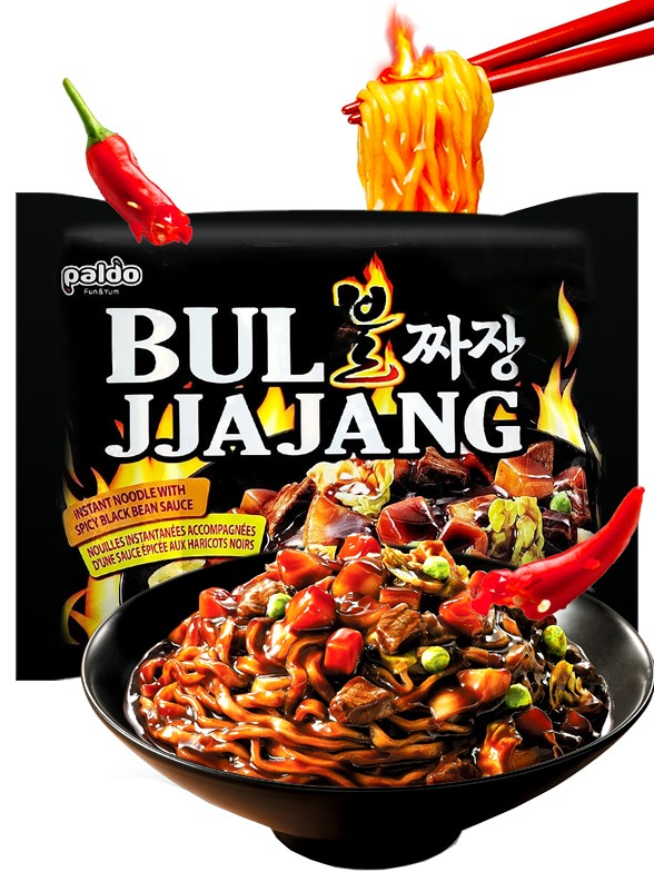 Ramen Salteados con Carne y Salsa Chajang Picante   Bul Jjajang 203 grs